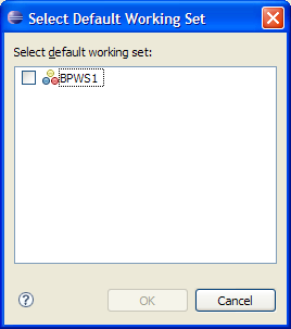 Select Default Working Set