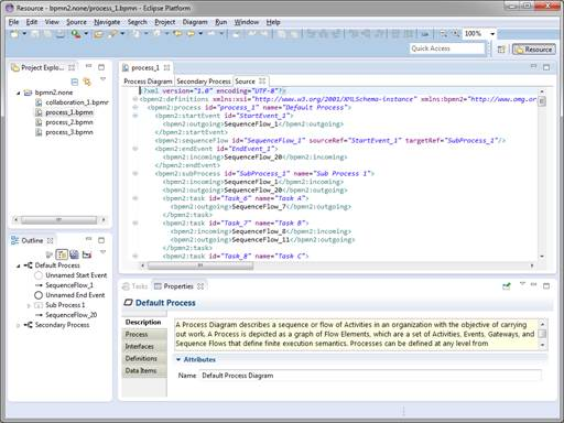 Eclipse bpmn2 modeler user guide version 101 a special tab is available for an xml source view of the bpmn diagram as shown in the following screenshot ccuart Image collections