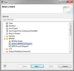 Eclipse bpmn2 modeler user guide version 101 from the main menu click file new other which opens the new file wizard dialog box navigate to the bpmn2 category and you will see several entries ccuart Gallery