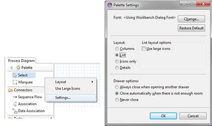 Eclipse bpmn2 modeler user guide version 101 figure 10 tool palette configuration ccuart Image collections