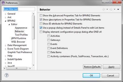 Eclipse bpmn2 modeler user guide version 101 figure 67 editor behavior ccuart Image collections