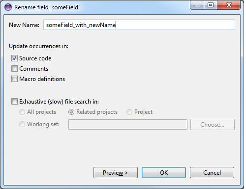 file rename shortcut key