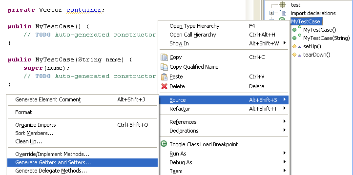 how to create pojo class in eclipse