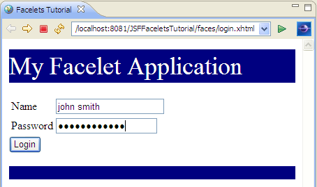 JSF Tools tutorial - Build a JSF 2 0 application
