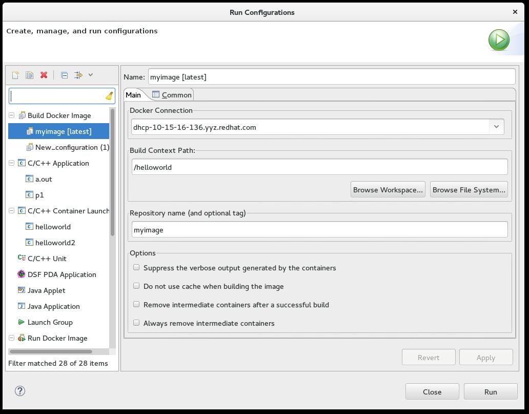 Docker Tooling User Guide - Docker Tooling Perspective