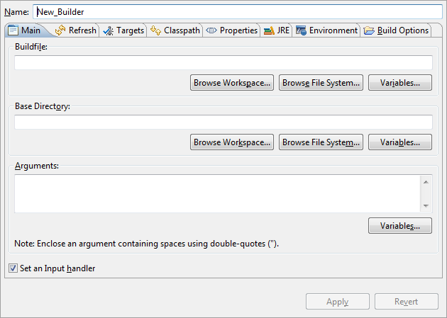 Creating a project builder Ant buildfile