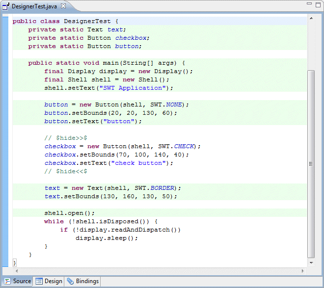 Preferences Common Code Parsing