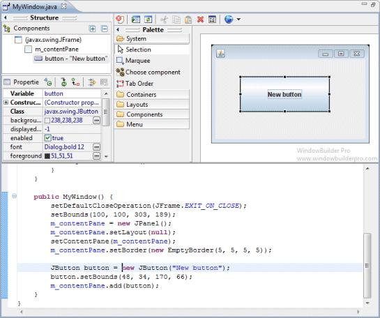 Preferences windowbuilder for Windowbuilder